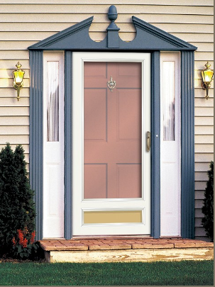 Storm doors fiberglass steel entry doors vinyl patio for Storm doors for french patio doors